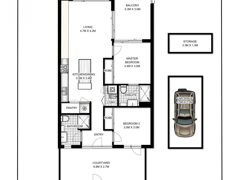 B111/810-822 Elizabeth Street, Waterloo NSW 2017 Floorplan
