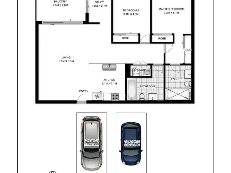 12/619-629 Gardeners Road, Mascot NSW 2020 Floorplan