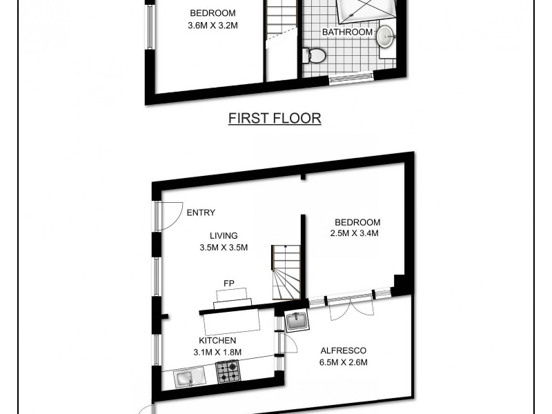 1 Sims Street, Darlinghurst NSW 2010 Floorplan
