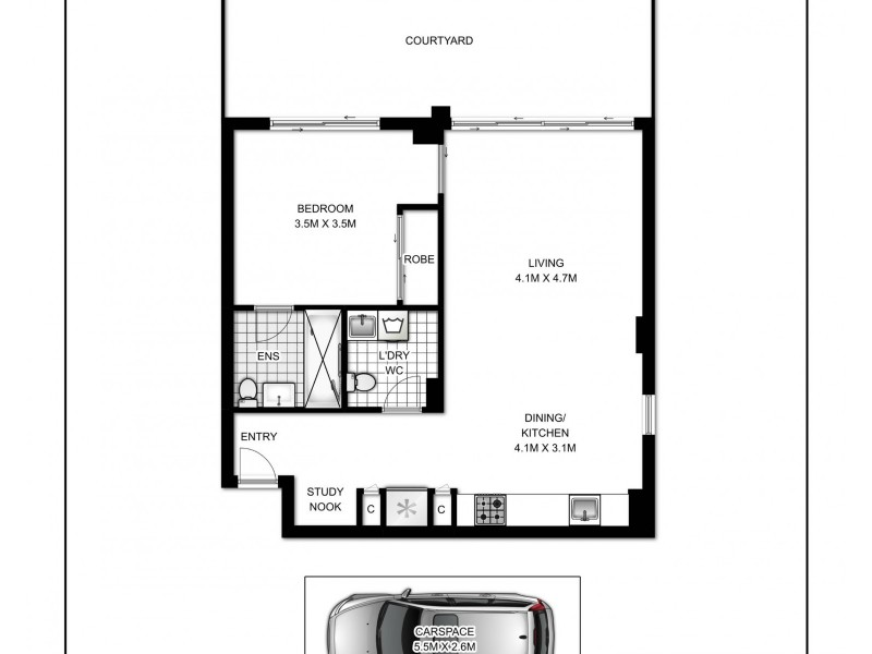 C201/5 Hunter Street, Waterloo NSW 2017 Floorplan