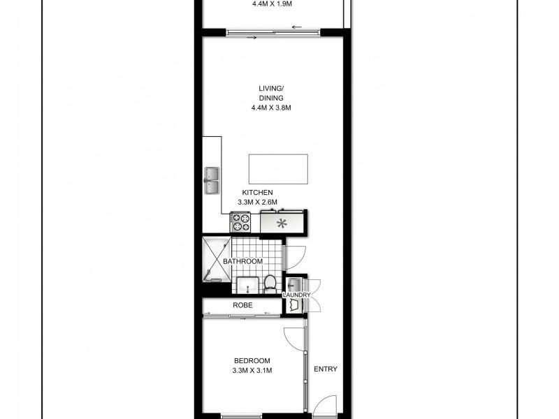 B114/810-822 Elizabeth Street, Waterloo NSW 2017 Floorplan