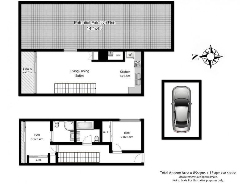125/169-175 Phillip Street, Waterloo NSW 2017 Floorplan