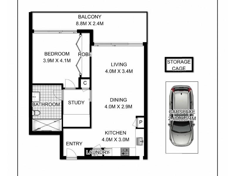 207/123-129 Wyndham Street, Alexandria NSW 2015 Floorplan