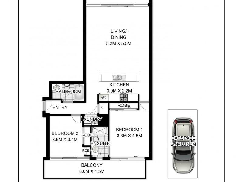 21/1-11 Murray Street, Waterloo NSW 2017 Floorplan