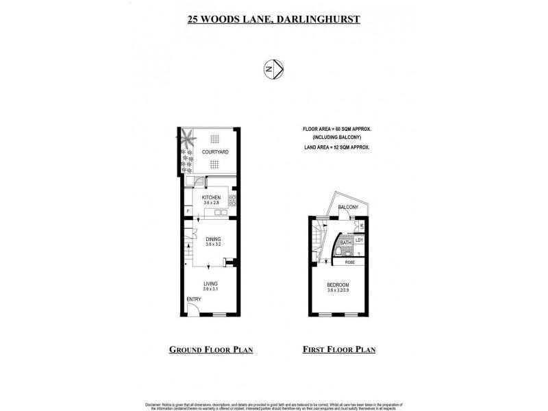 25 Woods Lane, Darlinghurst NSW 2010 Floorplan