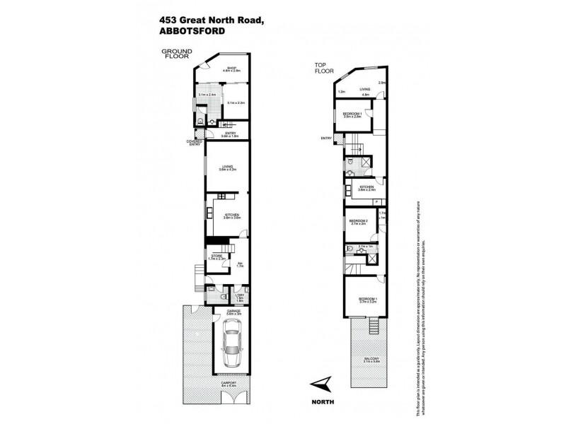 453 Great North Road, Abbotsford NSW 2046 Floorplan