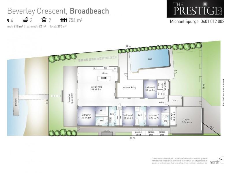 4 Beverley Crescent, Broadbeach Waters QLD 4218 Floorplan
