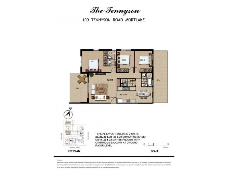 25/100 Tennyson Road, Mortlake NSW 2137 Floorplan