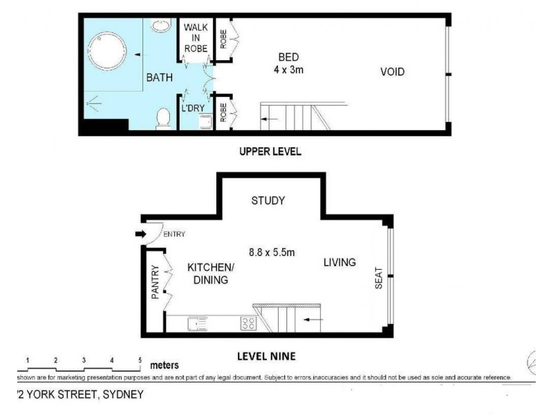 912/2 York Street, Sydney NSW 2000 Floorplan