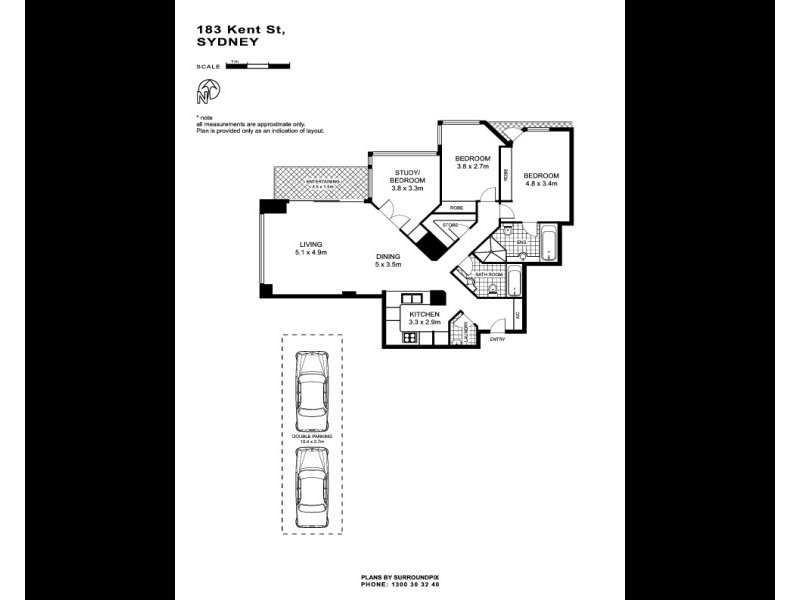 1506/183 Kent Street, Sydney NSW 2000 Floorplan