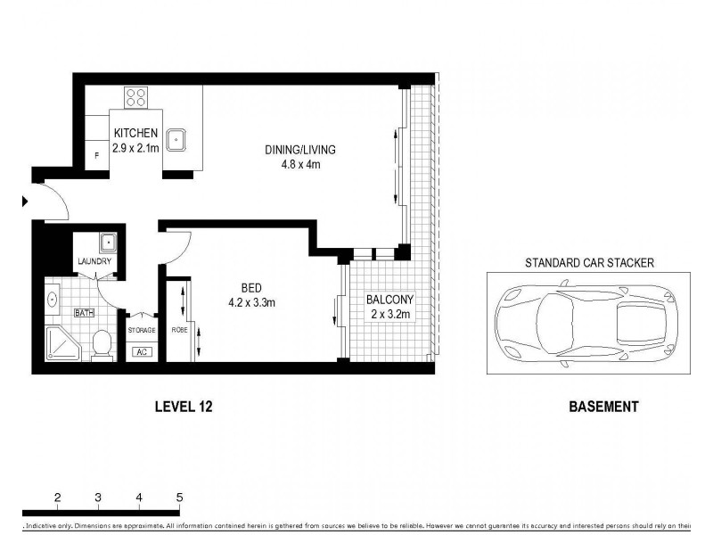 1210/183 Kent Street, Sydney NSW 2000 Floorplan