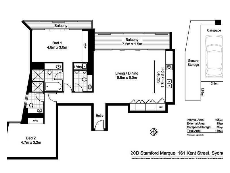 20D/161 Kent Street, Sydney NSW 2000 Floorplan