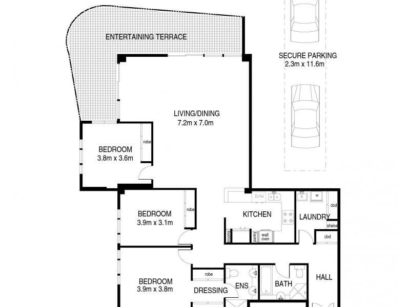 2203/168 Kent Street, Sydney NSW 2000 Floorplan