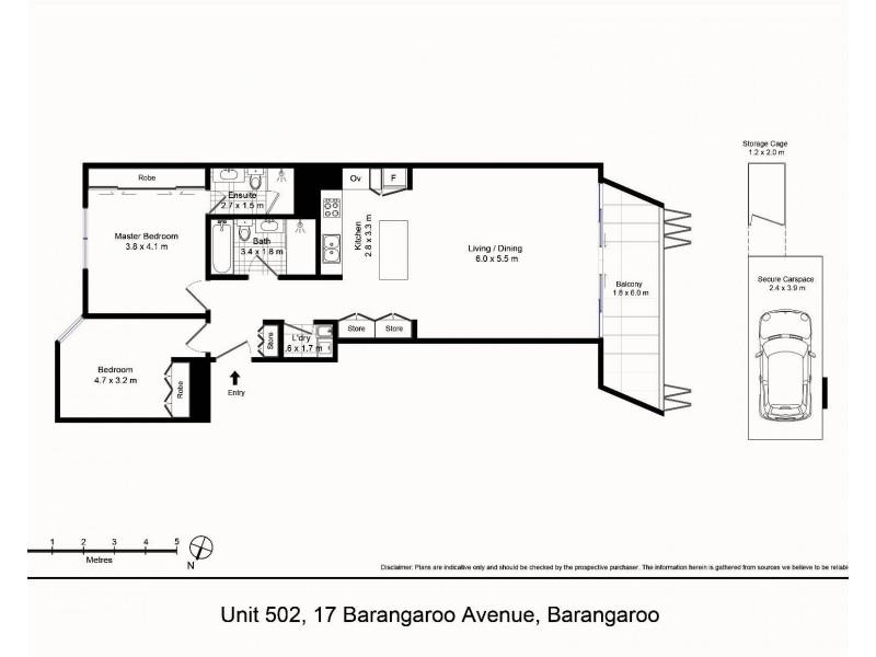 502/17 Barangaroo Avenue, Barangaroo NSW 2000 Floorplan