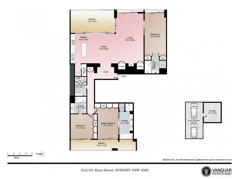 23A/161 Kent Street, Sydney NSW 2000 Floorplan