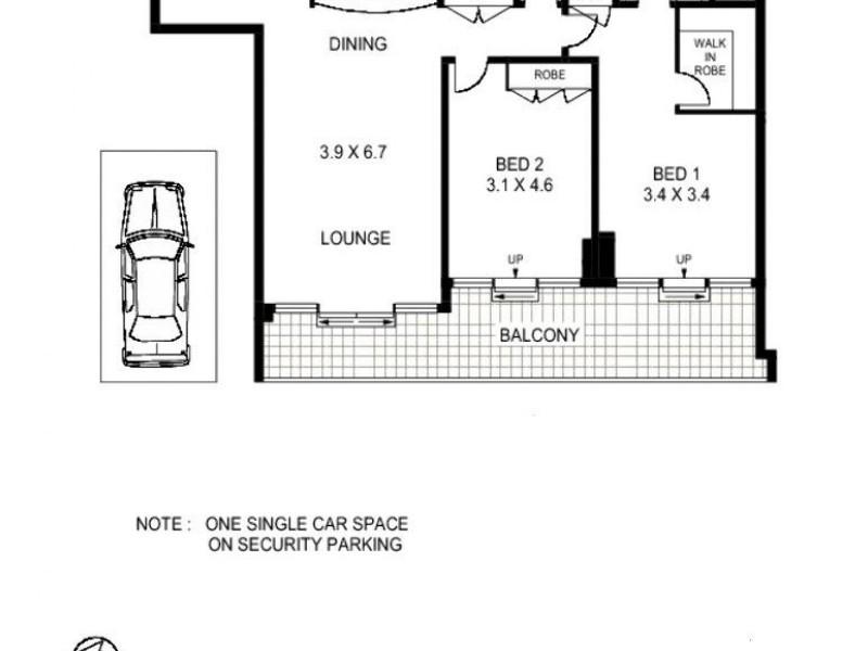 1102/183 Kent Street, Sydney NSW 2000 Floorplan
