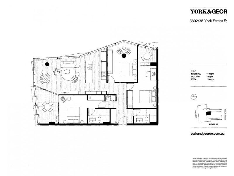 3802/38 York Street, Sydney NSW 2000 Floorplan