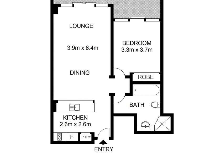 705/187 Kent Street, Millers Point NSW 2000 Floorplan