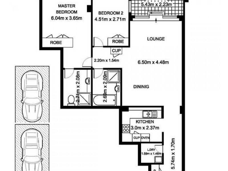 603/168 Kent Street, Sydney NSW 2000 Floorplan