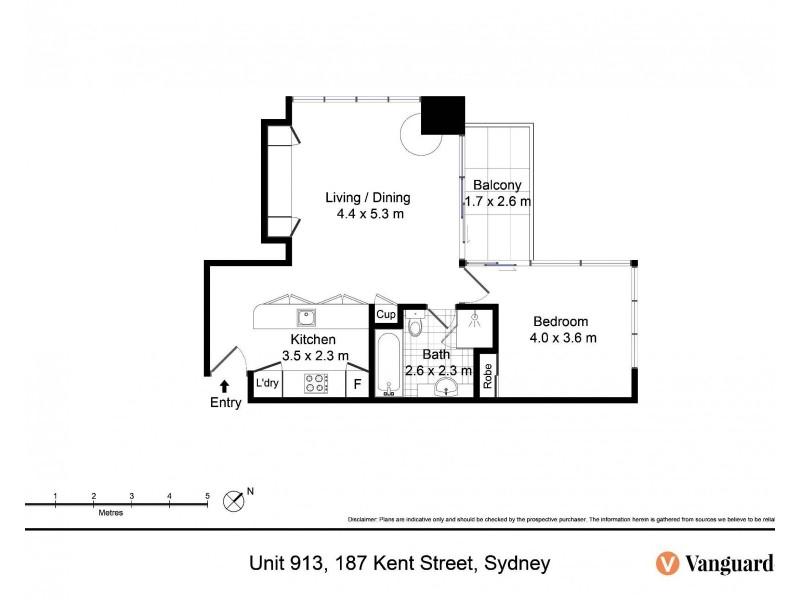 913/187 Kent Street, Sydney NSW 2000 Floorplan