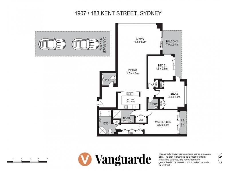 1907/183 Kent Street, Sydney NSW 2000 Floorplan