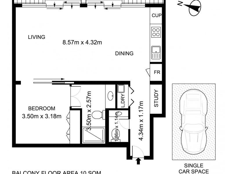 1B/161 Kent Street, Sydney NSW 2000 Floorplan