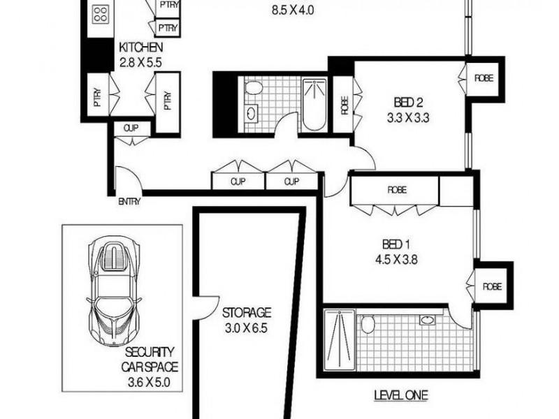 5A/171 Gloucester Street, The Rocks NSW 2000 Floorplan