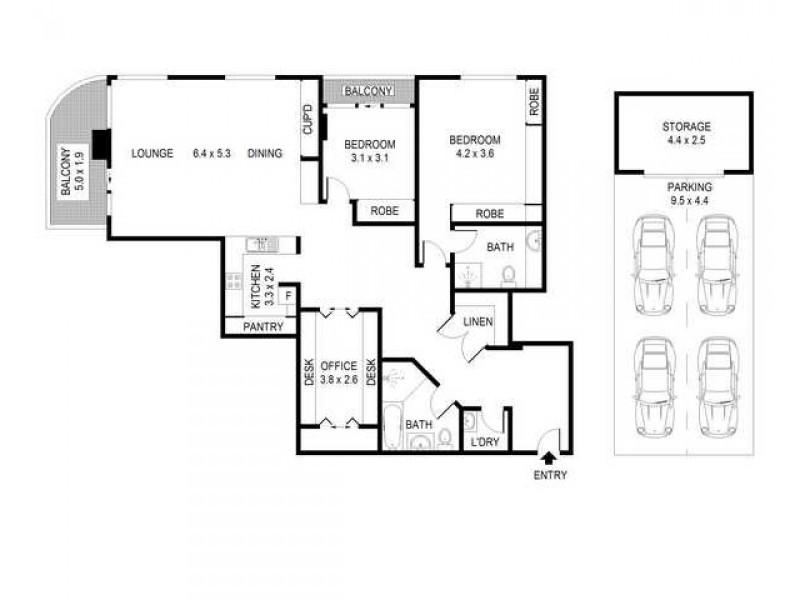 901/168 Kent Street, Sydney NSW 2000 Floorplan