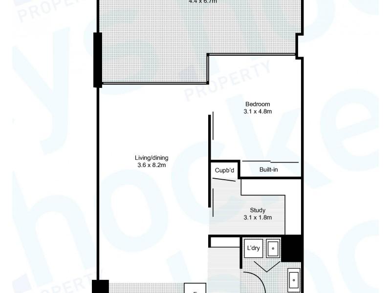 108E/599 Pacific Highway, St Leonards NSW 2065 Floorplan