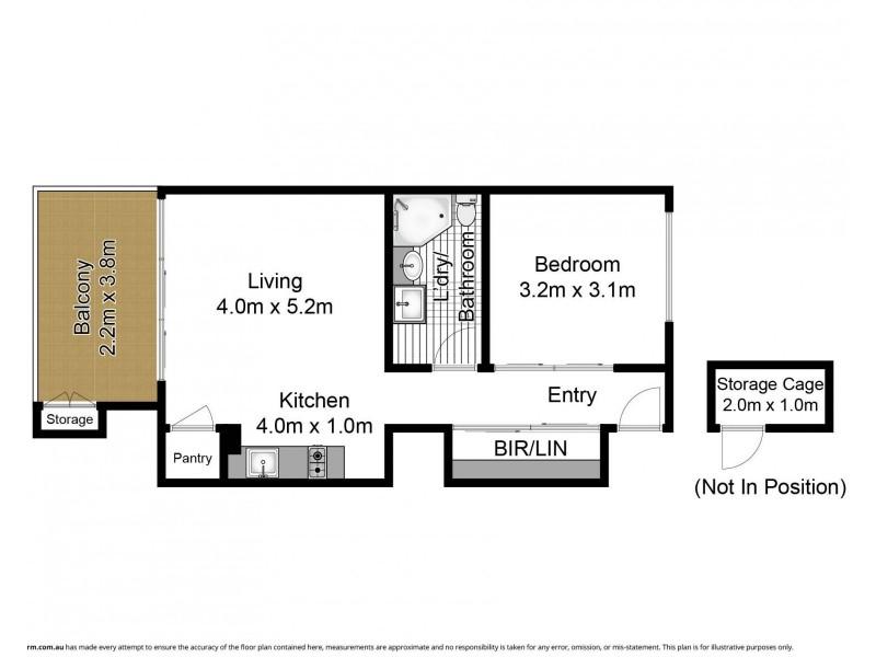 603/51 Chandos Street, St Leonards NSW 2065 Floorplan