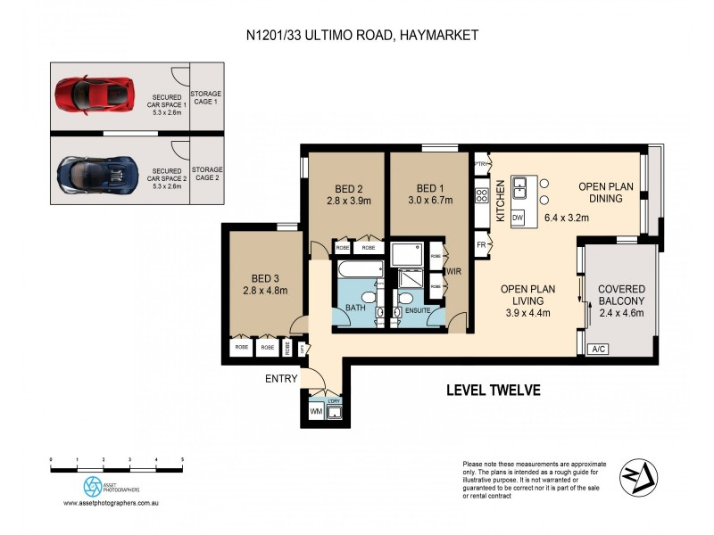N1201/33 Ultimo Road, Haymarket NSW 2000 Floorplan