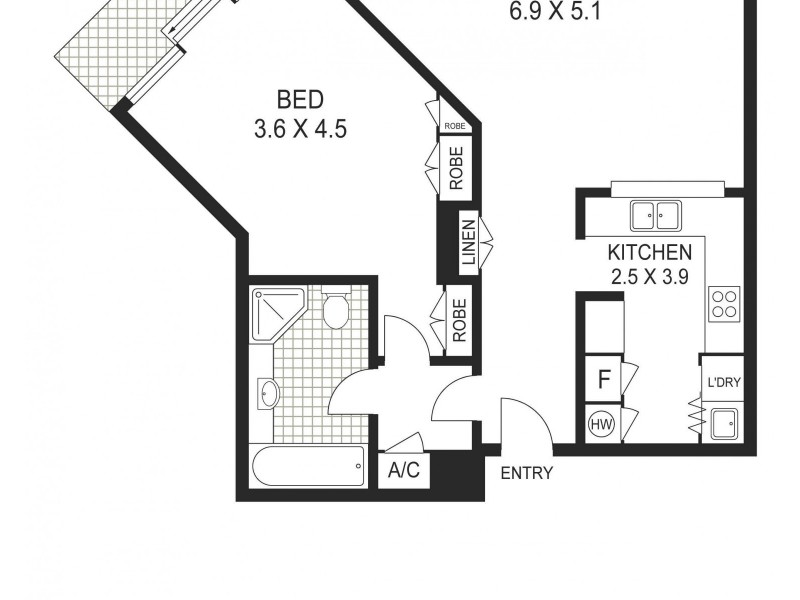 64/7 Macquarie Street, Sydney NSW 2000 Floorplan