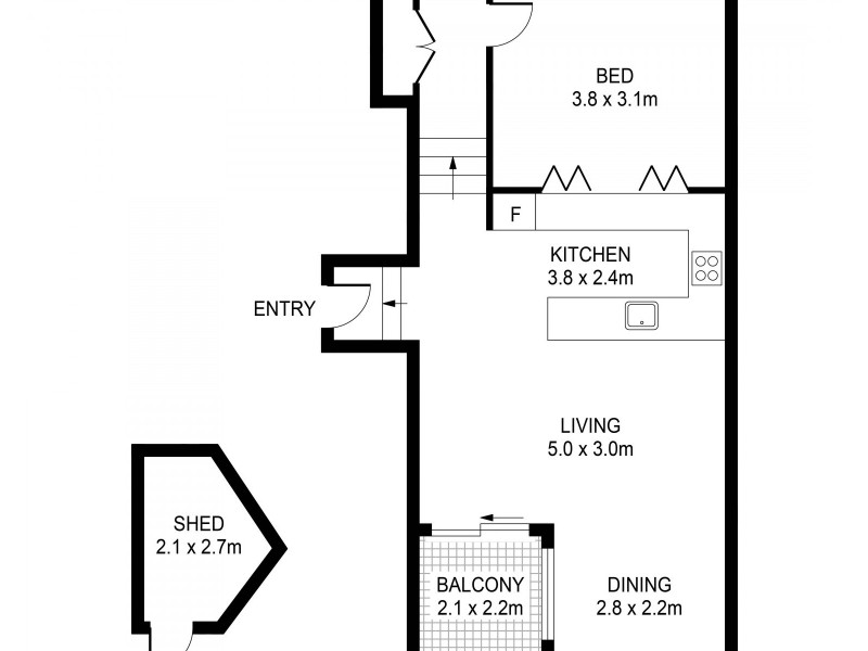 505/172 Riley Street, Darlinghurst NSW 2010 Floorplan