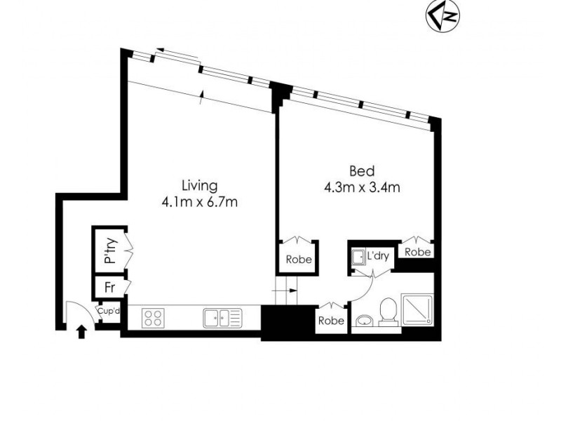 515/2 York Street, Sydney NSW 2000 Floorplan
