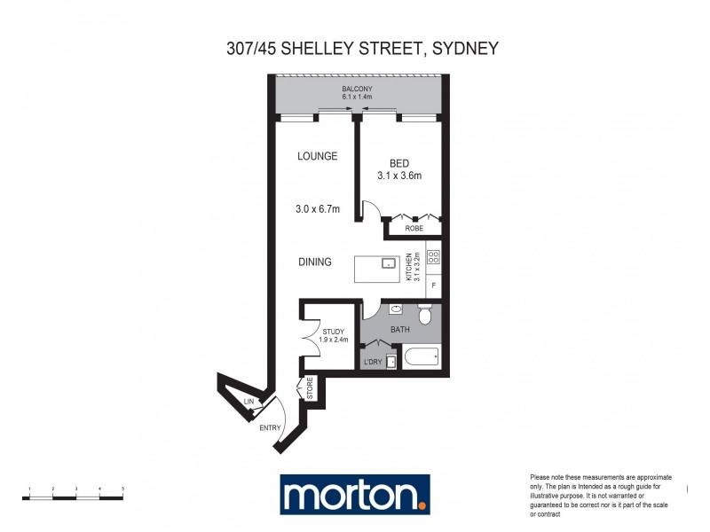 307/45 Shelley Street, Sydney NSW 2000 Floorplan