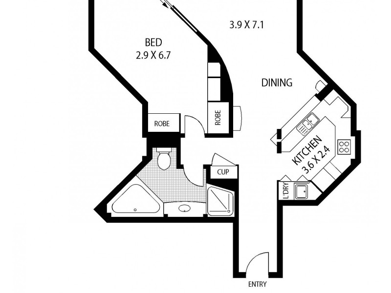512/61 Macquarie Street, Sydney NSW 2000 Floorplan