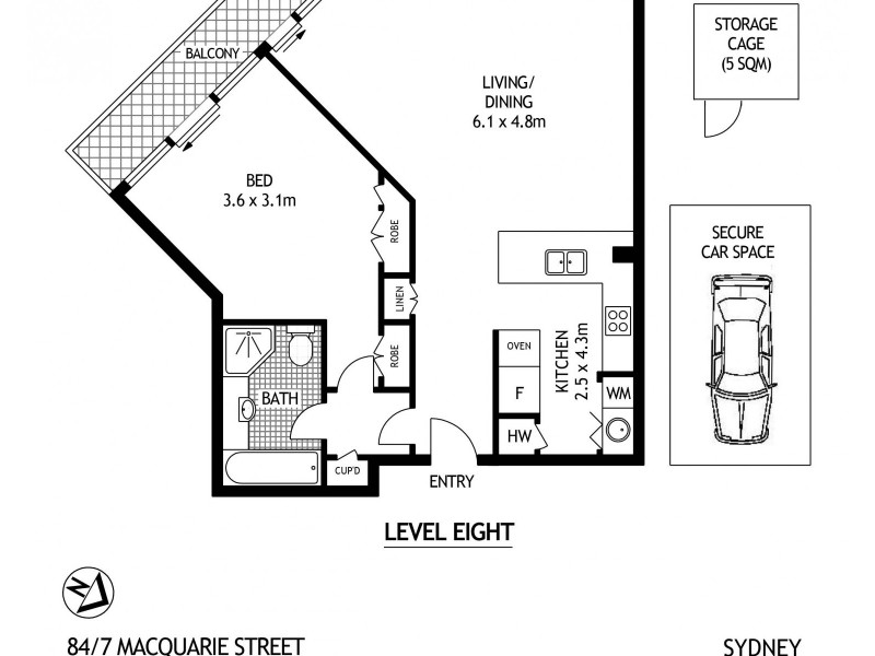 84/7 Macquarie Street, Sydney NSW 2000 Floorplan