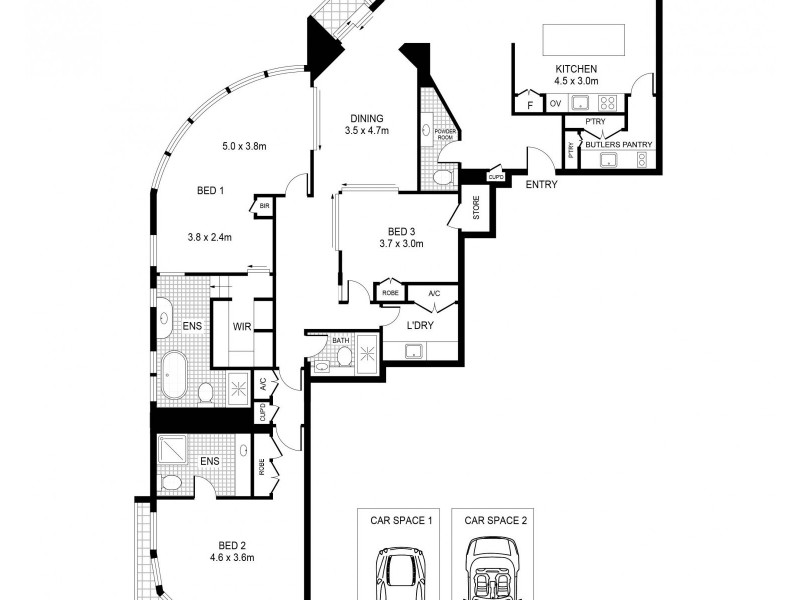24/7 Macquarie Street, Sydney NSW 2000 Floorplan