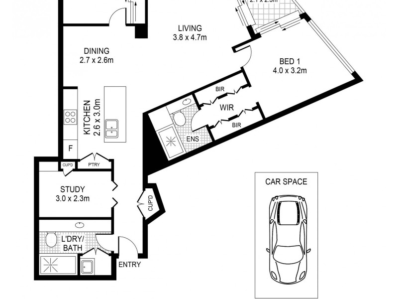 801/23 Shelley Street, Sydney NSW 2000 Floorplan