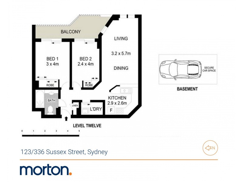 123/336 Sussex Street, Sydney NSW 2000 Floorplan