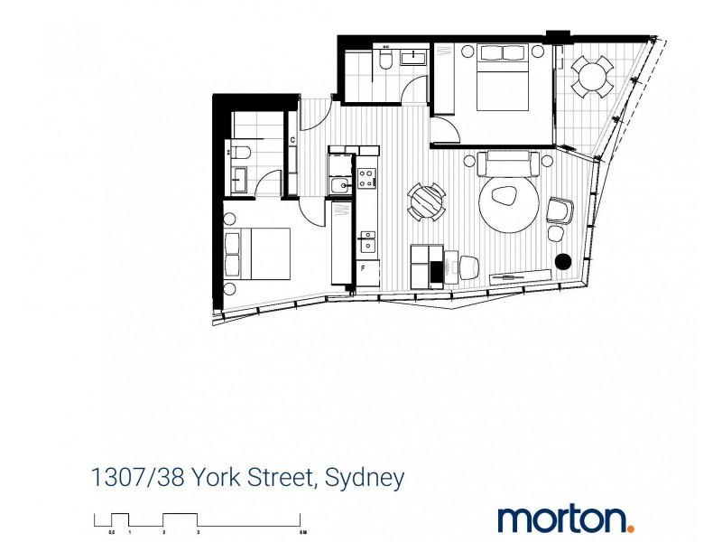 1307/38 York Street, Sydney NSW 2000 Floorplan