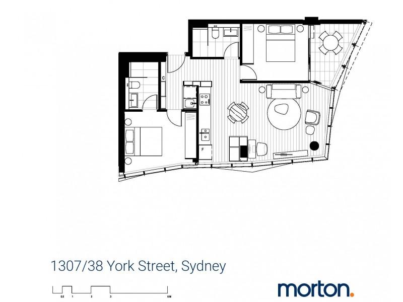 1307/38 York Street, Sydney NSW 2000 Floorplan