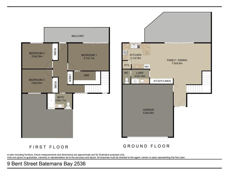 19 Bent Street, Batemans Bay NSW 2536 Floorplan