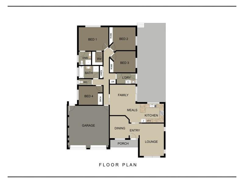 8 Doutney Place, Dunlop ACT 2615 Floorplan