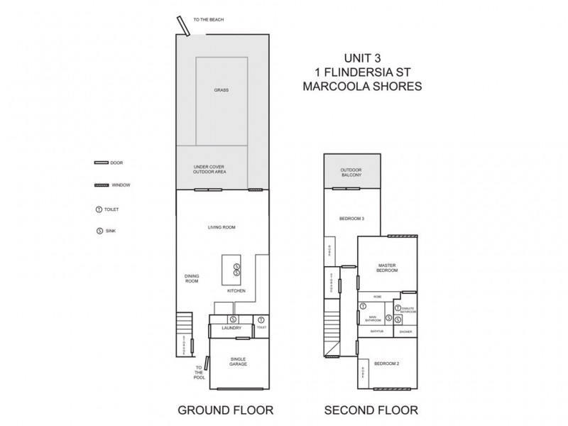 3/1 Flindersia St, Marcoola QLD 4564 Floorplan