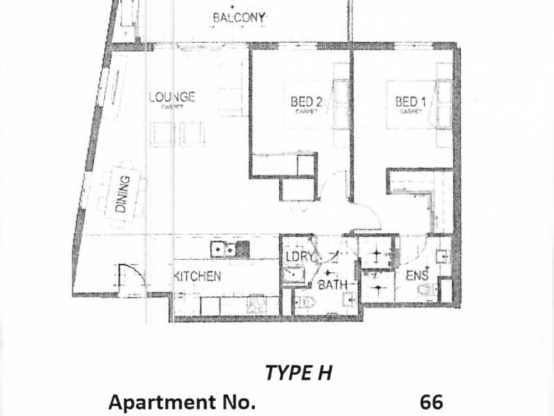 66/16 Midgegooroo Avenue, Cockburn Central WA 6164 Floorplan