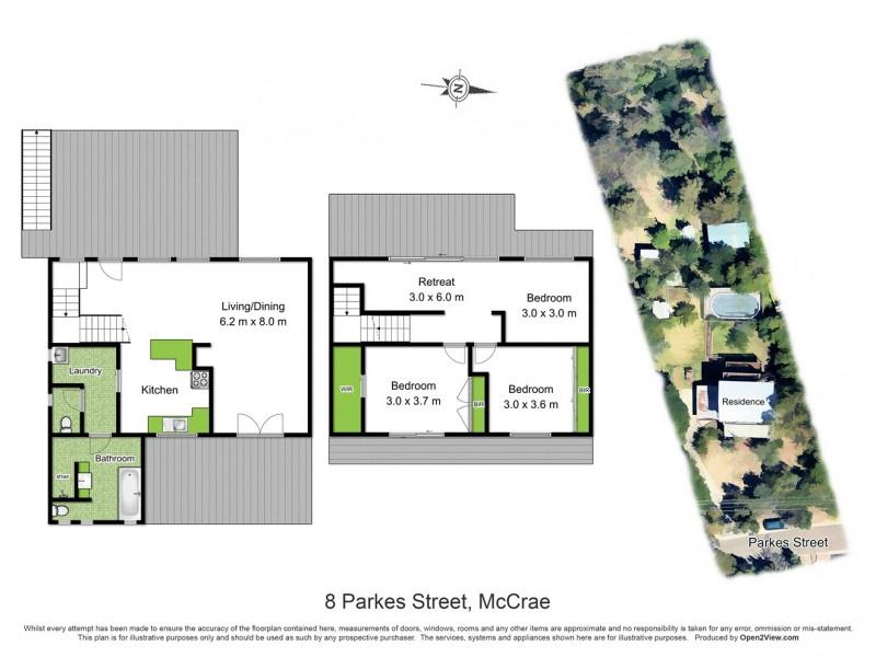 8 Parkes Street, Mccrae VIC 3938 Floorplan