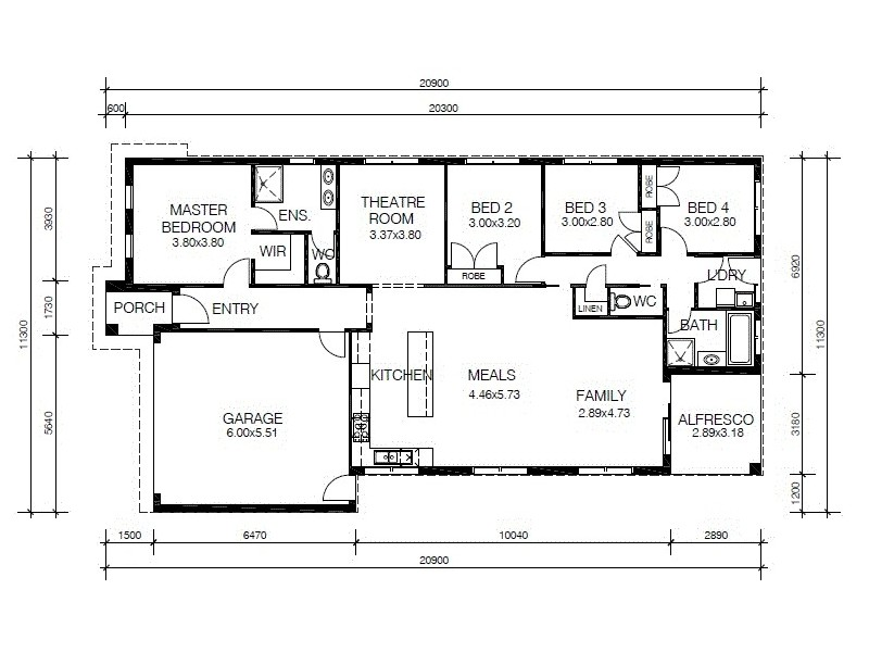 13 Omars Place, Berwick VIC 3806 Floorplan