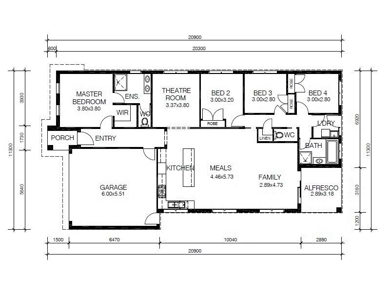 1015 Rufous Street, Cranbourne West VIC 3977 Floorplan