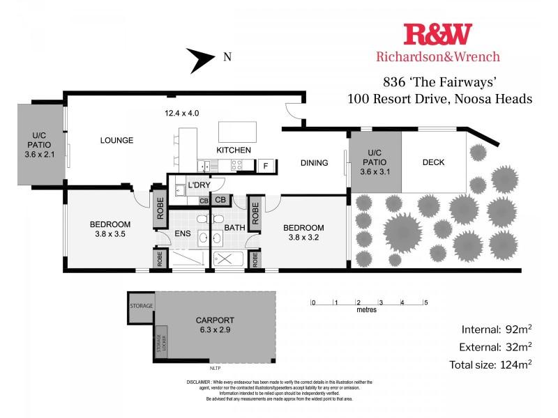 836/100 Resort Drive, Noosa Heads QLD 4567 Floorplan